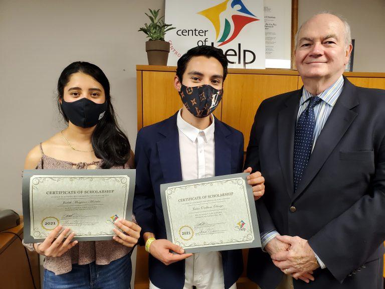 Presenting Center of Help's Scholarship Awards
